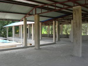 A roof on the classroom block